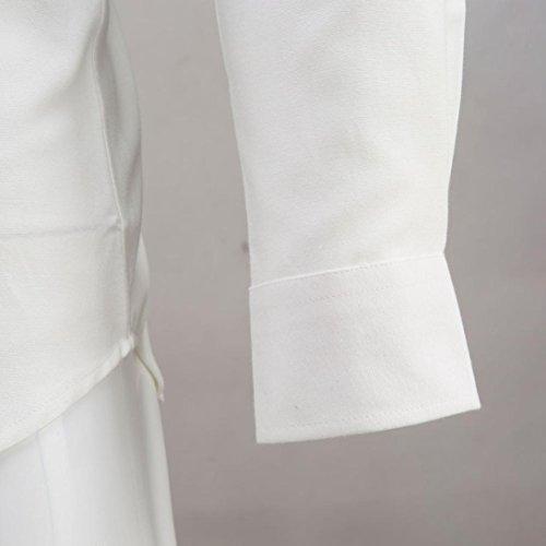 Kaiki Mens Luxury Business Slim Shirt Langarm Casual Shirt White