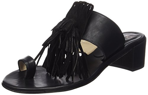 Paco Gil P3070 Damen Offene Sandalen mit Blockabsatz Schwarz (Black)