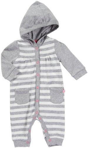 Carters Jumpsuit (Carter 's Baby Mädchen Hooded Knit Jumpsuit-Grau Heather Stripe)