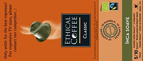 100 capsule inca soave biologico compatibili sistema nespresso