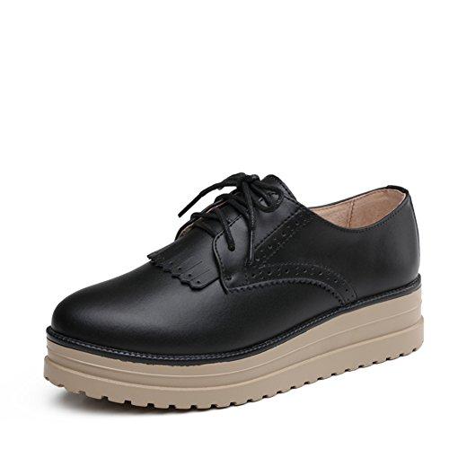 Primavera Scarpe Casual,Inglese Scuola Scarpe Piattaforma Stile,Piatte Scarpe Da Donna,Fondo Spesso Scarpe Di Cuoio A