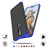Screen Protector and Case for Nokia X6/Nokia 6.1 Plus,