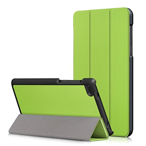 MuSheng(TM) Leather Slim Folding Stand Painted Case Cover For Lenovo Tab 7 Essential TB-7304F/I/X (Green)