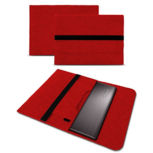 UC-Express Laptop Case Sleeve Hülle Lenovo Yoga C930 13,9 Zoll Tasche Filz Notebook Cover, Farbe:Rot Laptop Notebook-rot