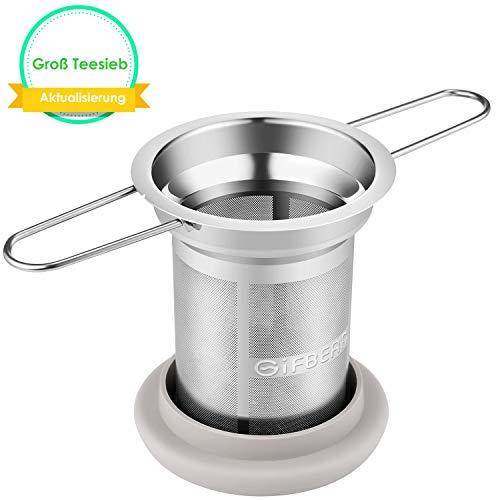 Teesieb Teefilter für Losen Tee GIFBERA Teesieb Edelstahl Aktualisierung Teesieb für Kanne Super Feines Mesh für Tee, Kaffee, Gewürze