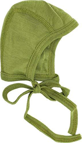 Cosilana Cosilana Baby Häubchen aus 70% Wolle und 30% Seide kbT, Farbe Grün, Größe 50/56