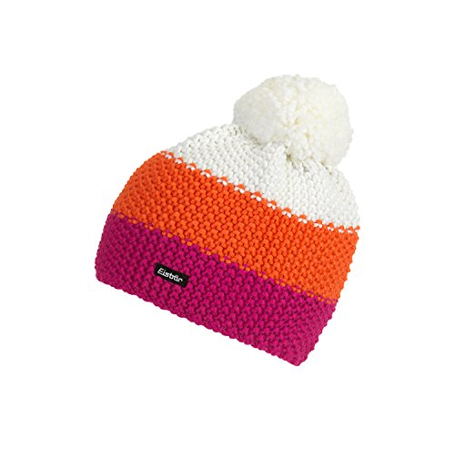 Eisbär Star Pompon MÜ Kids Mütze deep pink/Dark orange/White, One Size