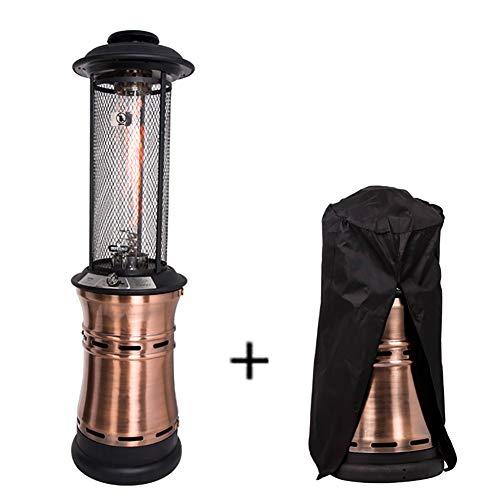 ZDYLM-Y Terrassenheizstrahler, Garden Outdoor Heater mit 360 ° Wärmeableitung, Schnellaufheizung, Kippschutz, mit Regenschutz