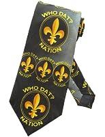 Steven Harris Fleur De Lis Necktie - Black - One Size Neck Tie