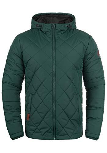 Blend Divior Herren Steppjacke Übergangsjacke Jacke gefüttert mit Kapuze, Größe:M, Farbe:Pine Green (77023)