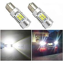 WLJH 2 bombillas LED 7507 de color blanco 1156PY PY21W para proyectores Bau15s S8 S25 bayoneta