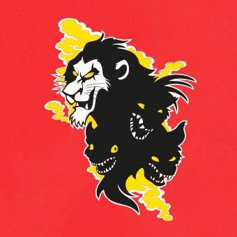 TEXLAB - Scar Face - Langarm T-Shirt Rot