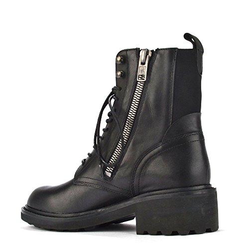 Ash Schuhe Styx Boots aus Leder, Damen Schwarz