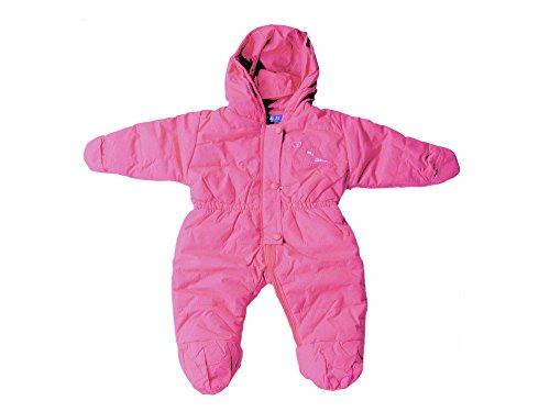 Baby Kleinkind Schnee-Overall, Skianzug, Schneeanzug mit Bärchen-Apllikation, Pink, Rosa, AM-KI-MAE-Ski-JK103, Körpergröße in cm:80 cm