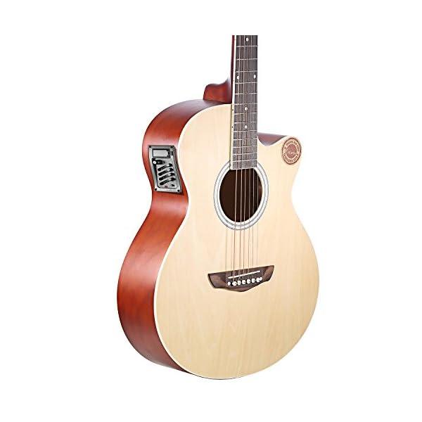 Neewer® 4 band chitarra acustica, preamplificatore, amplificatore per chitarra acustica EQ 7545R con Pickup.