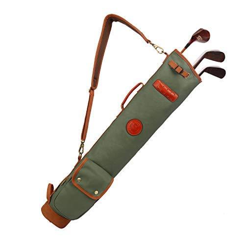 Tourbon Turbon Golftasche aus Segeltuch, leicht, für Herren und Damen, Grün