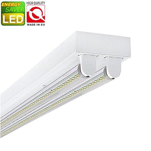 T8 Deckenleuchte (SUPER SET LED Deckenleuchten mit 2X T8 LED 18W warmweiß 3000K 120cm G13 Büroleuchte, Bürobeleuchtung)