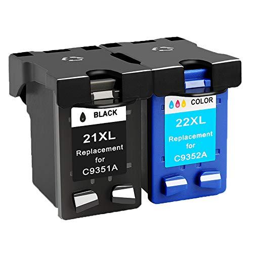 Teng - Cartucho de Tinta remanufacturado Compatible con HP 21 22 XL für HP...