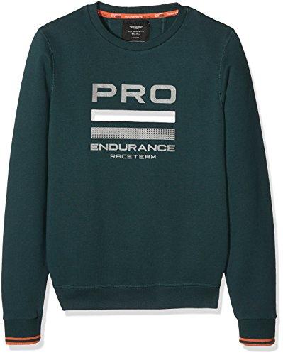 Hackett Jungen Sweatshirt Amr Crw Swt Y, Grün (Leafy), Medium (Herstellergröße: 13 Jahre)