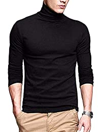 Crazy Prints Cotton Full Sleeves High-Neck Tshirt for Men