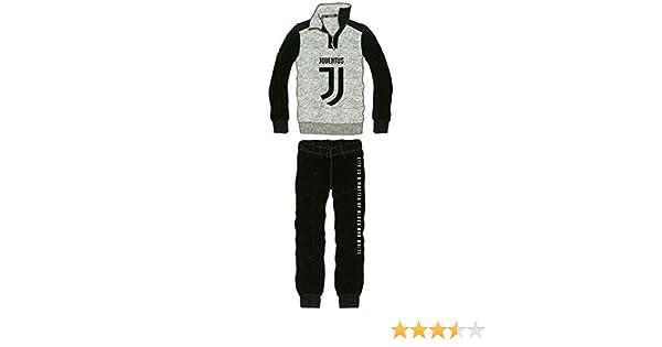 Pigiama Juventus Juve Tuta Ufficiale Felpato Bambino Ragazzo Anni 10 12 14 JU5084GR