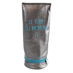Caroline Lisfranc - Trousse tube du moment - Gris Perle