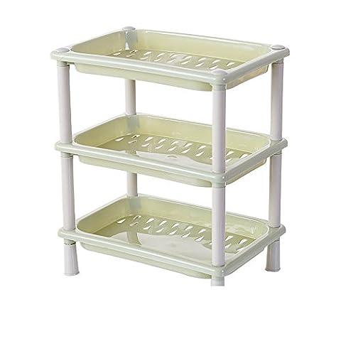 Ihope 3étages Plastique Organiseur étagère d'angle étagère de douche d'angle antirouille étagère pour salle de bain de cuisine de stockage