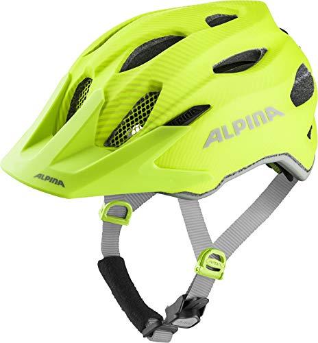 Alpina Carapax JR - Casco Unisex para jóvenes Flash be Visible - Casco de  Ciclismo ( 96d4aed9033