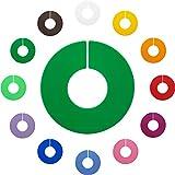 Kunststofftechnik Vlotho - Der Original Größenfinder: Modell LP-Größenscheiben für Größenkennzeichnung auf Kleiderstangen, unbedruckt, Farbe frei wählbar, 10 Stück, zur Selbstauszeichnung
