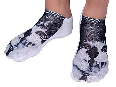 Chaussettes courtes: Socquettes avec motifs Taille: 36 - 39 pour femme ou Ados fille garçon Une petite touche d'humour, d'amour, de tendresse, de fantaisie, et surtout d'originalité, choisir:chat SO-64