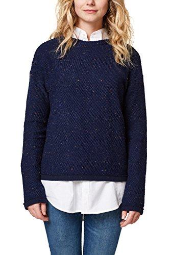 edc by Esprit 028cc1k051, Sudadera para Mujer, Azul (Navy 400), Large