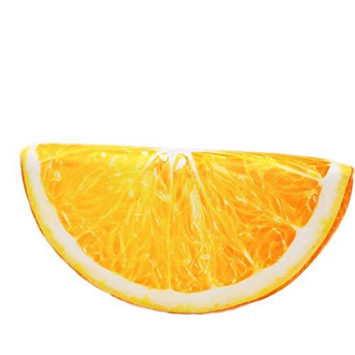 serliy 3D Fruit Soft Kissen Plüsch Kissen Orange Wassermelone Sitzkissen Dekor Hohe Qualität Warm Kreatives Werfen Polsterung Ölgemälde Weich Baumwolle Niedlich Schön Cushion (Plüsch Werfen Orange)