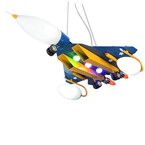 Kinderzimmer Schmiedeeisen Cartoon Flugzeug Deckenleuchte, LED Glas Lampenschirm Moderne Kreative Kronleuchter Junge Mädchen Schlafzimmer Studie Leuchte -