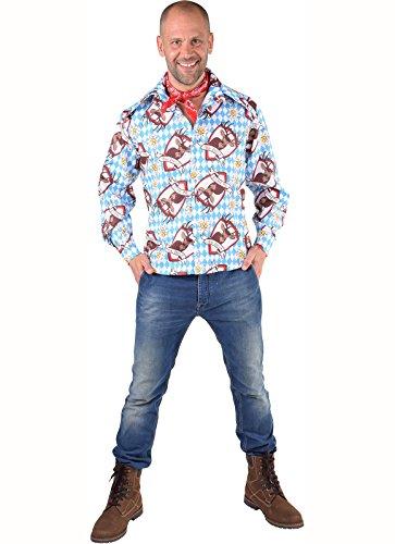 Panelize Trachtenhemd + Tuch Oktoberfestkleidung Trachtenkleidung Herrentracht (XXL)