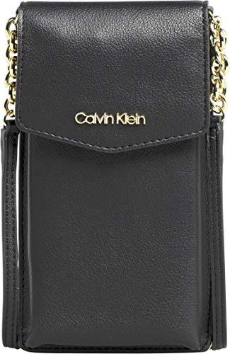 Calvin Klein Damen Ck Must Phone Pouch Geldbörse, Schwarz (Black), 1x1x1 cm