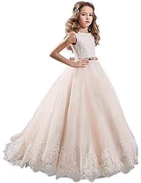 HotGirls Princesa de dama de honor flor vestidos de niñas de baile vestido de baile