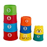 #5: Rvold Bright Color Stacking and Nesting Joy Tower Cups For Babies Infants Toddlers