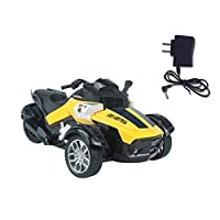 Tree-on-Life1/14 4CH Infrared Remote Control RC Car High-speed Racing 3 Wheeled ATV Ready-to-Run Motorcycle Tricycle Off-Road Vehicle Toy