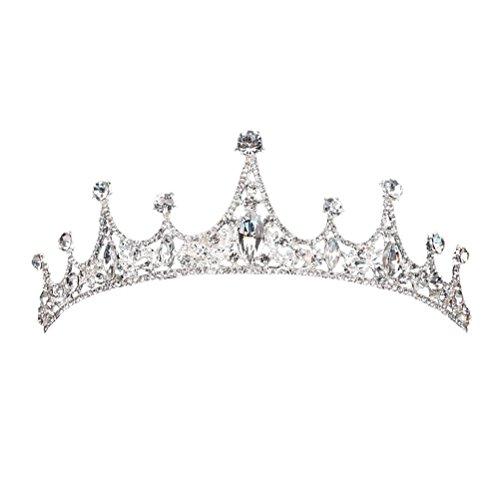 eburtstagsparty Stirnbänder Krone Glitzer Prinzessin Haarschmuck für Kinderparty (Weiß) ()