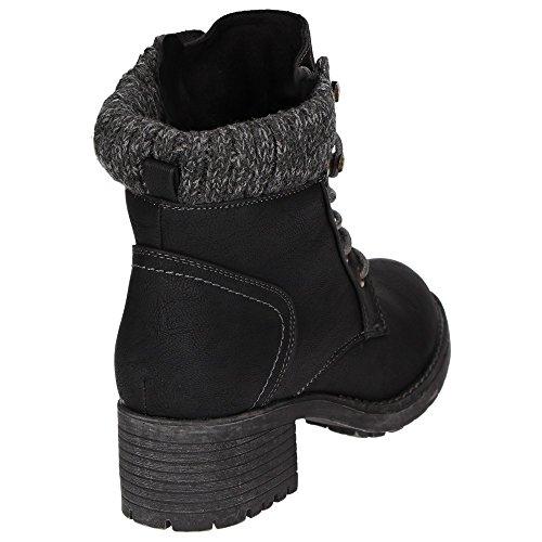 Jane Klain 262173-006 Damen Winter-Stiefelette Warmfutter Schuhe rutschhemmend Schwarz Schwarz