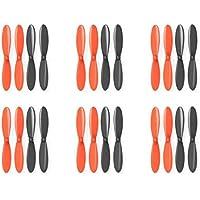 6 x Quantity of Estes Dart Black Orange Propeller Blades Propellers Props - FAST FROM Orlando, Florida USA!