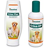 Himalaya Combo of Erina Plus Coat Cleanser with Conditioner, 200 ml & Erina-EP Tick and Flea Control Shampoo, 200 ml