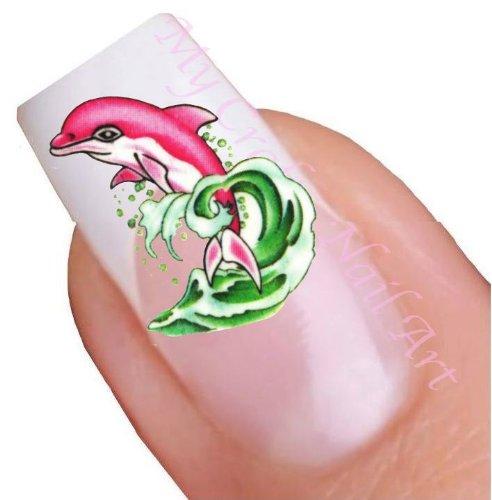 Dauphin stickers pour ongles décalques à l'eau - Transfert Décalque à l'eau, tatoo