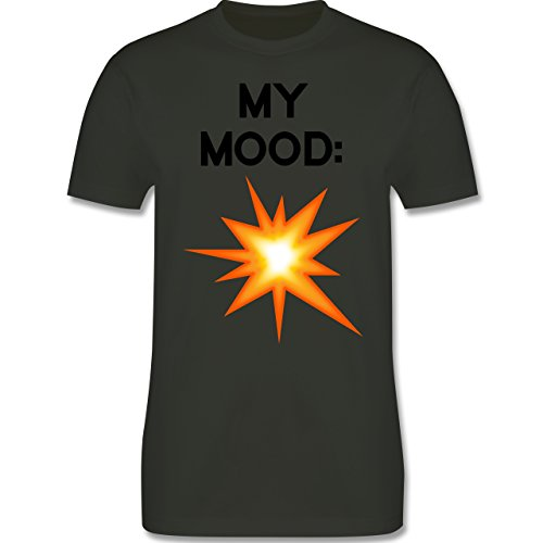 Statement Shirts - My Mood: Explosion - Herren Premium T-Shirt Army Grün