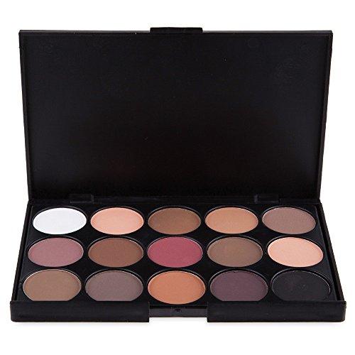 Unbekannt Shimmer Lidschatten-Palette, matt, Lidschattenplatte, Kosmetik, Make-up, Lidschatten, 15...