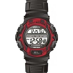 Oxbow - 4527201 - Montre Homme - Quartz Digitale Multifonctions - Bracelet en Plastique Noir