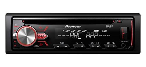 Pioneer DEH-4900DAB | 1DIN Autoradio | CD-Tuner mit FM | DAB-/DAB+ | MP3 | USB – AUX-Eingang | iPod/iPhone Direktsteuerung | ARC-Apps für iPhone und Android per USB