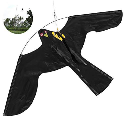 Bird Repeller, scarificateur anti-oiseaux avec mât télescopique de 7 m, scarificateur d'oiseaux en forme de cerf-volant volant, pour jardin, pelouse et ferme