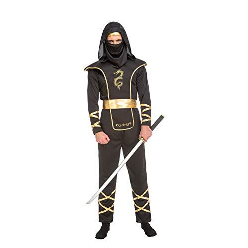 My Other Me Herren Kostüm Ninja, Schwarz (viving Costumes) M-L Schwarz