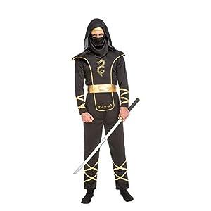 My Other Me Me-204890 Disfraz de ninja para hombre, Color negro, M-L (Viving Costumes 204890